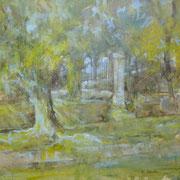 """""""Sul Lungonaviglio""""- olio su tela cm. 40 x 40 – € 150,00"""