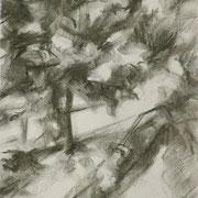 """""""Guardando dal ponte"""" - carboncino su carta cm. 21 x 29,7 – € 70,00"""