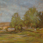 """""""Estate a Cernusco"""", olio su pannello telato, cm. 24 x 30 - € 100,00"""