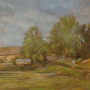 """""""Estate a Cernusco"""", olio su pannello telato, cm. 24 x 30 - € 70,00"""