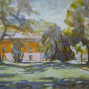 """""""Pomeriggio di luce al Parco Comi"""" - olio su cartone telato cm. 24 x 30 - € 70,00"""