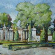 """""""Agosto a Cernusco"""" - olio su tavola cm 24 x 30 - Siena, collezione privata"""