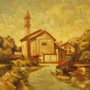 """""""Santa Maria"""" - olio su tela cm 30 x 40 - Siena, collezione privata"""