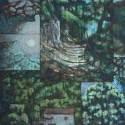 """""""Il bosco"""" - olio su tavola cm. 60 x 50 – Cernusco sul Naviglio, collezione privata"""