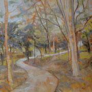 """""""Principio d'autunno"""" - olio su tela cm. 50 x 50 – € 200,00"""