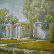 """""""Nei Giardini all'Italiana"""" - olio su tela cm. 50 x 60 – Cernusco sul Naviglio, collezione privata"""
