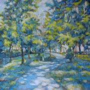 """""""Passeggiando nel parco"""" – olio su tela cm. 50 x 50 - Cernusco sul Naviglio, collezione privata"""