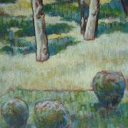 """Giardino a Cernusco"" - tecnica mista su cartone telato cm. 25 x 20 – € 70,00"
