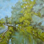 """""""Fine d'estate"""" - olio su cartone telato cm. 24 x 30 – S. Zenone al Lambro (MI), collezione privata"""