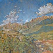 """""""Breno"""" - olio su tela cm. 60 x 60 - Besana Brianza, collezione privata"""