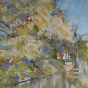 """""""Impressione lungonaviglio"""" - olio su cartone telato cm. 24 x 30 – Oberuzwil (Svizzera), collezione privata"""