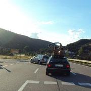 Autokokorso zur Unterkunft