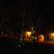 beautiful atmosphere at night in the yard when all the visitors have gone...