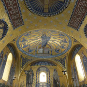 the chapel with the Odilia paintings, Cherubims, Alfa y Omega ...
