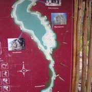 Mapa del camino al Wayna Picchu, Templo de la Luna y regreso. Agrandar foto!