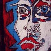 """"""" Portrait """" - Acrylique sur carton - 90x120 cm - 2006"""