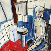 """"""" J´ai faim! """" ( triptyque expo J´ai faim! ) - Huile, pigments et pastels sur toile - 180x200cm - 2011"""
