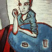 """"""" R by M """" - Huile et pigments sur toile - 95x120 cm - 2009"""
