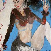 """"""" Cigarette """" - Acrylique et huile sur toile - 90x120 cm - 2007"""