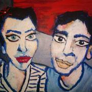 """ Adam & Moi "" - Huile sur toile - 50x70 cm - 2010"