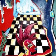 """"""" Partie d´échecs """" - Acrylique sur toile - 100x150 cm - 2007"""