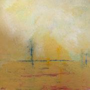 """""""Le Souffle du Désert"""" - Huile, pigments et pastels sur toile - 100x100 cm - 2016"""