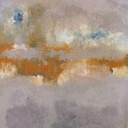 """""""Métal"""" - Huile et pigments sur toile - 100x100cm- 2017 (pour la série LIENS)"""