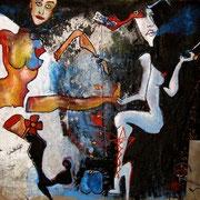 """"""" Première """" - Huile sur toile - 180x190 cm - 2006"""