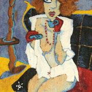 """"""" Le thé """" - Huile sur toile - 85x240 cm - 2008"""