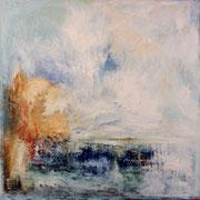 """""""L'enfant"""" - Huile, pigments et pastels sur toile - 100x100 cm- 2014"""
