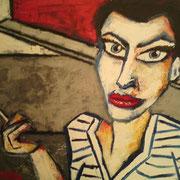 """"""" Autoportrait 2 """" - Huile sur toile - 50x70 cm - 2010"""