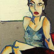 """"""" Autoportrait """" - Huile sur toile - 50x70 cm - 2010"""