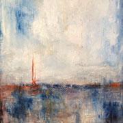"""""""La Mer"""" - 70x100cm - Huile, pigments et pastels sur toile - 2014"""