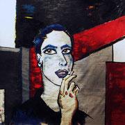 """"""" R² """" - Huile et pigments sur toile - 150x150 cm - 2009"""