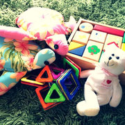 おもちゃご用意!
