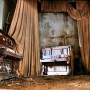 Ballroom decayed Pianos