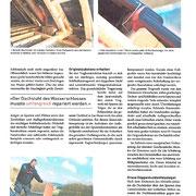 historischer denkmalgeschützter Dachstuhl saniert