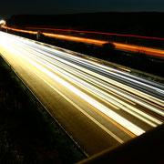 Lichtreifen der Autos auf der A2. Foto: ©Rita Helmholtz