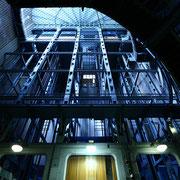 Aufzüge im Alten Elbtunnel, Hamburg. Foto: ©Rita Helmholtz