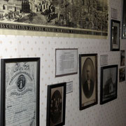 Photos and documents in this hallway tell the history of the Baert family. Dr. Daniel Baert, our first village physician, practiced in Zeeland in 1864.