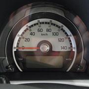 遊び心のあるスピードメーター。