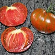 TOM 110 Berkeley Tie Dye / Früchte sind mittelgroß, grün-braun gestreift, saftig, fleischig,