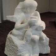 「冬の日-考える人-」  2016  大理石