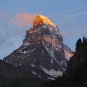 Mont Cervin depuis Zermatt (Suisse) - Aout 2016