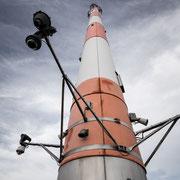 Der Antennenmast auf der Aussichtsplattform
