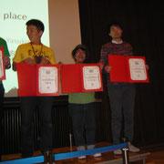 授賞式 総合賞10位を頂きました。
