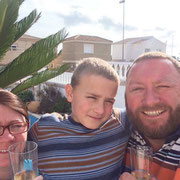 Aunty Julia, Cousin Aidan and Uncle Darren from Gosport