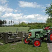 Familienurlaub Bauernhof: Trecker am Eifelblick