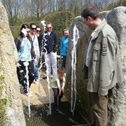 Wasser marsch im Labyrinth am Dreiländerpunkt Aachen