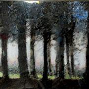 peinture inversée à l'acrylique sous plexi